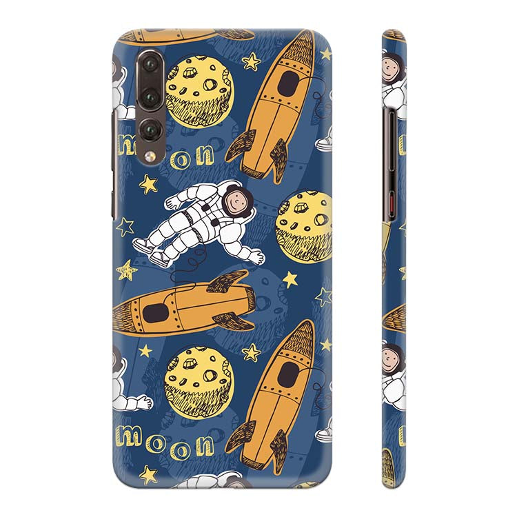 Travel To Moon Back Cover for Huawei P20 Pro