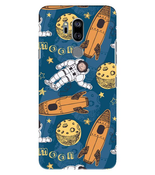 Travel To Moon Back Cover for LG G7