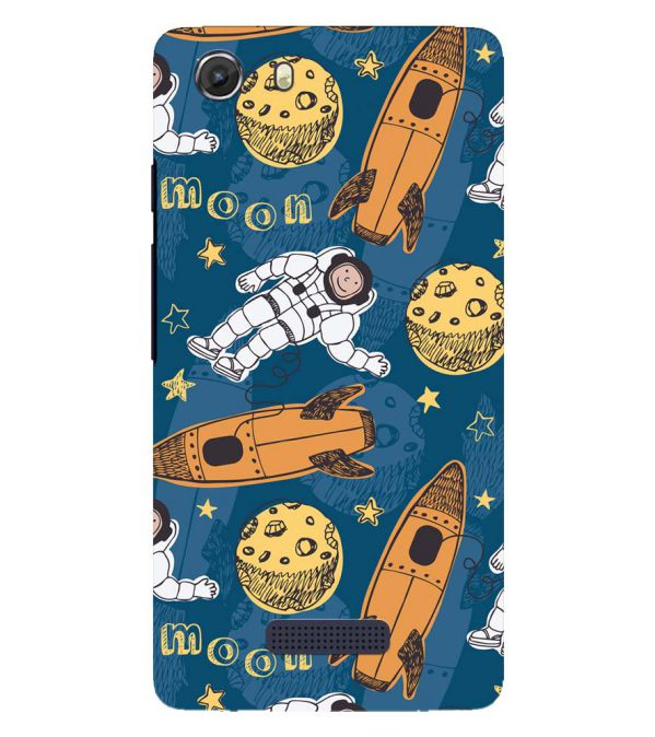 Travel To Moon Back Cover for Micromax Q372 Unite 3