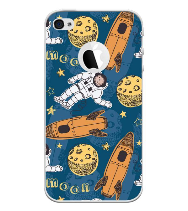 Travel To Moon Back Cover for Apple iPhone 4 and iPhone 4S (Logo Cut)-Image3