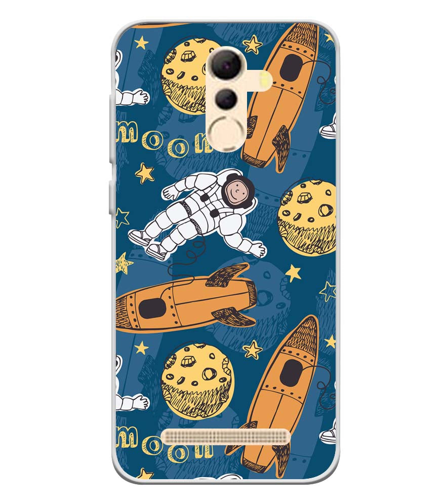 Travel To Moon Soft Silicone Back Cover for Coolpad Mega 5A