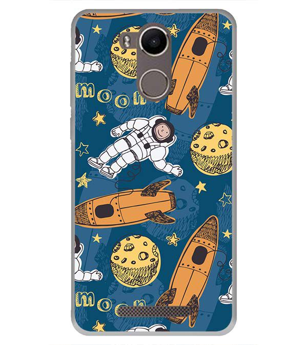 Travel To Moon Back Cover for Karbonn K9 Kavach 4G