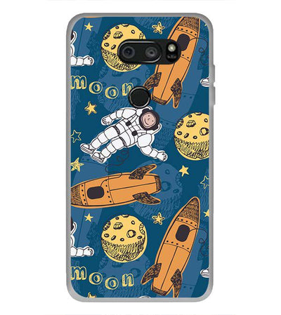 Travel To Moon Back Cover for LG V30 Plus-Image3