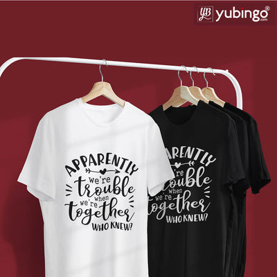 Trouble Together T-Shirt-White