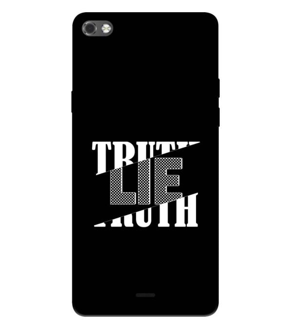 Truth and Lie Back Cover for Micromax Canvas Sliver 5 Q450