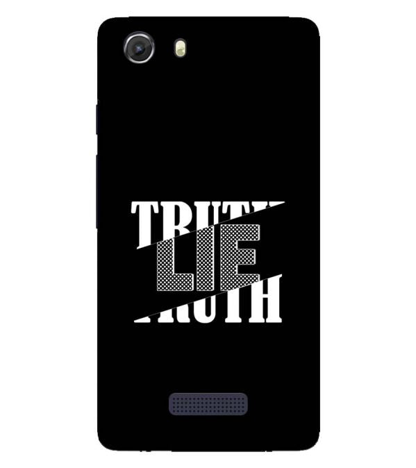 Truth and Lie Back Cover for Micromax Q372 Unite 3