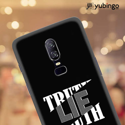 Truth and Lie Back Cover for OnePlus 6-Image4