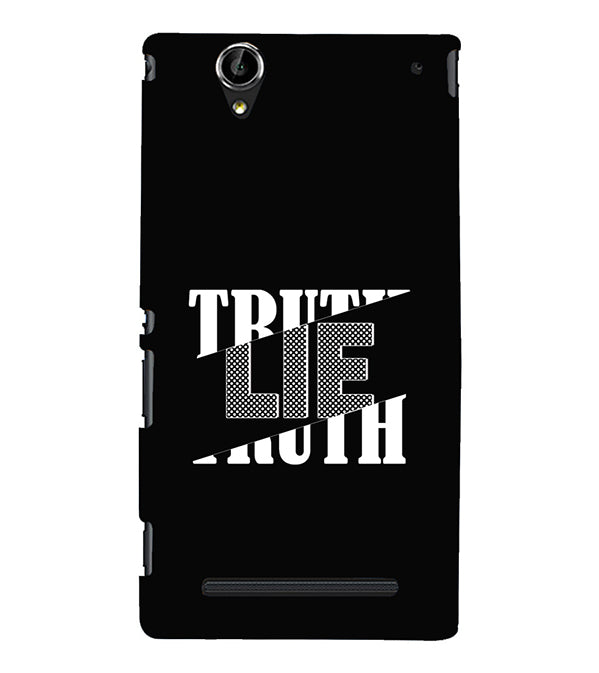 Truth and Lie Back Cover for Sony Xperia T2