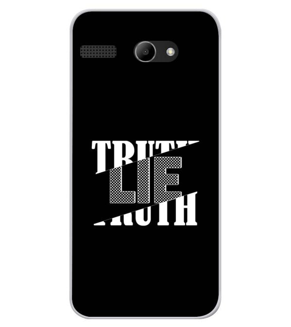 Truth and Lie Soft Silicone Back Cover for Lava Iris Atom X