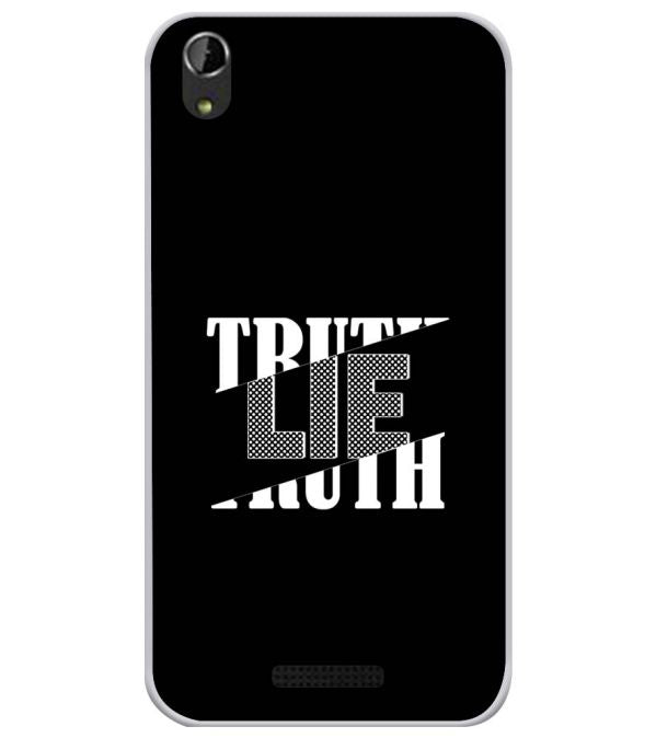 Truth and Lie Soft Silicone Back Cover for Lava Iris Atom X1