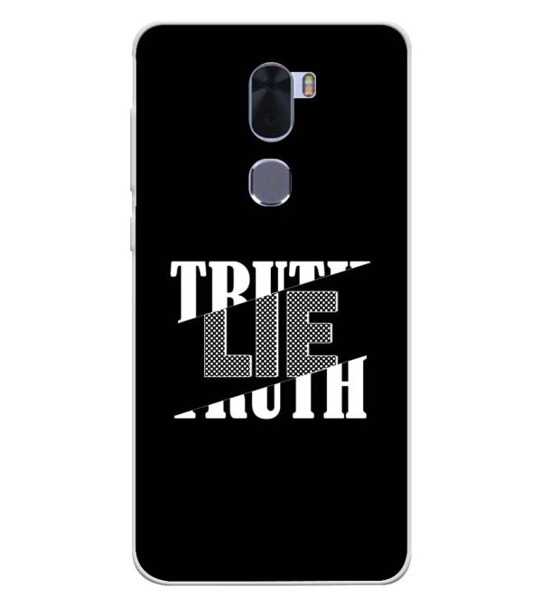 Truth and Lie Soft Silicone Back Cover for Coolpad Cool 1