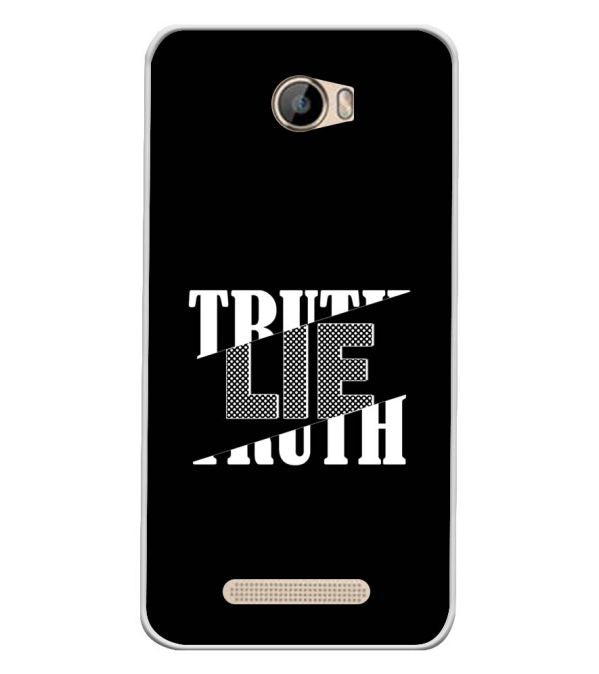 Truth and Lie Soft Silicone Back Cover for Intex Aqua 5.5 VR