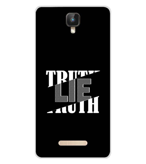 Truth and Lie Soft Silicone Back Cover for Intex Aqua Lions 2 4G