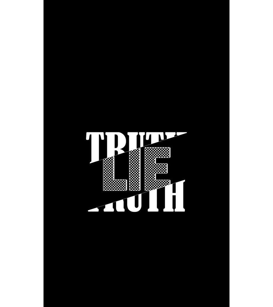 Truth and Lie Back Cover for Intex Intx Trend Lite