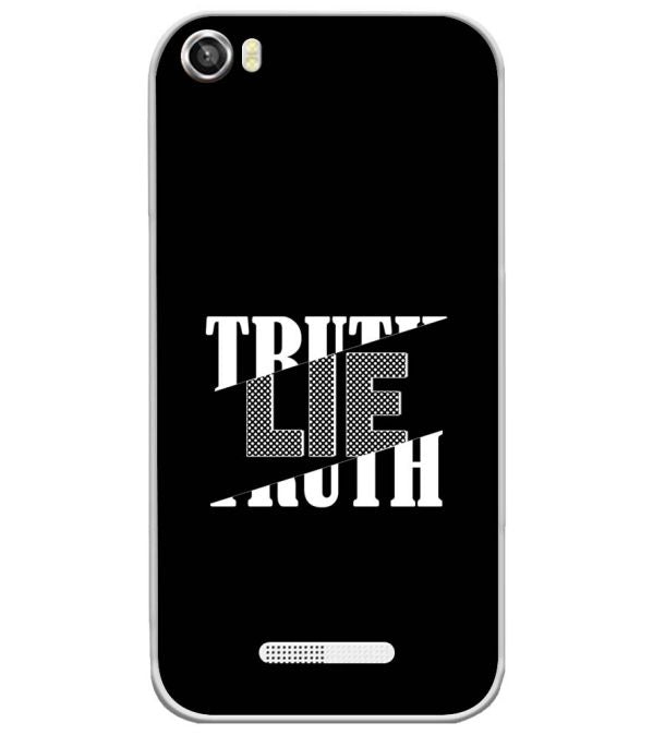 Truth and Lie Soft Silicone Back Cover for Lava Iris X8