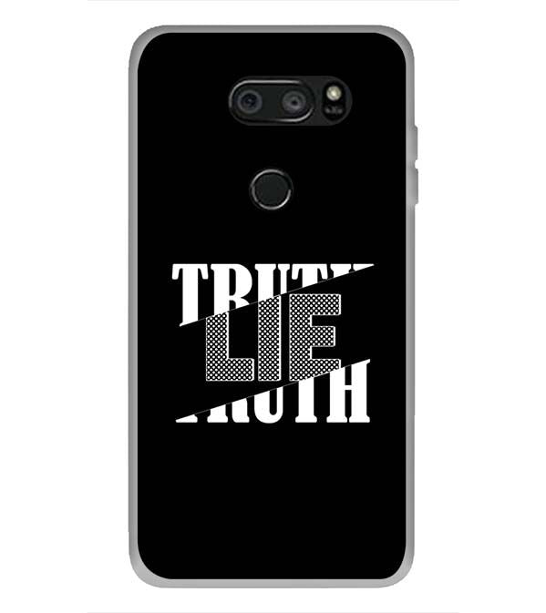 Truth and Lie Back Cover for LG V30 Plus