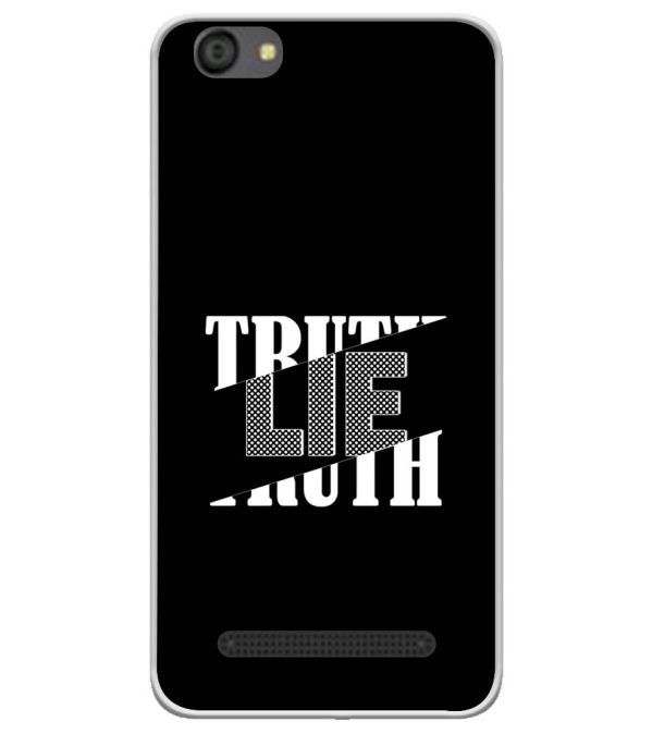 Truth and Lie Soft Silicone Back Cover for LYF Flame 5
