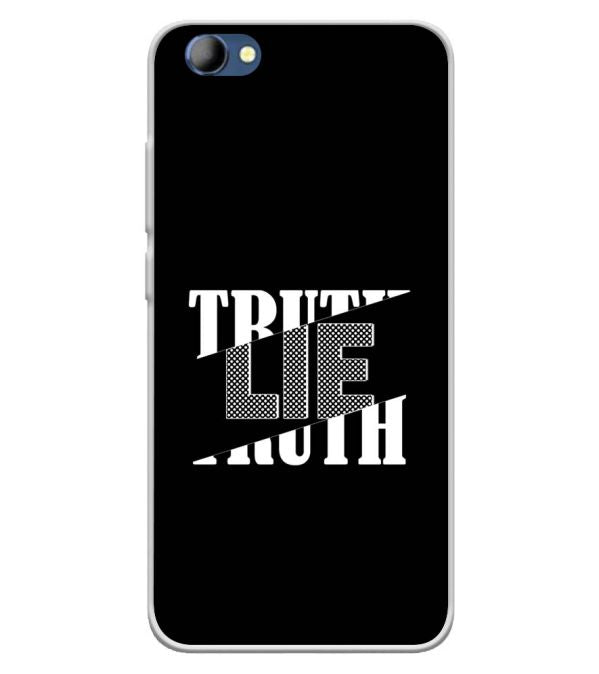 Truth and Lie Soft Silicone Back Cover for Panasonic Eluga I4
