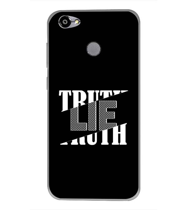 Truth and Lie Back Cover for Smartron TPhone (P)