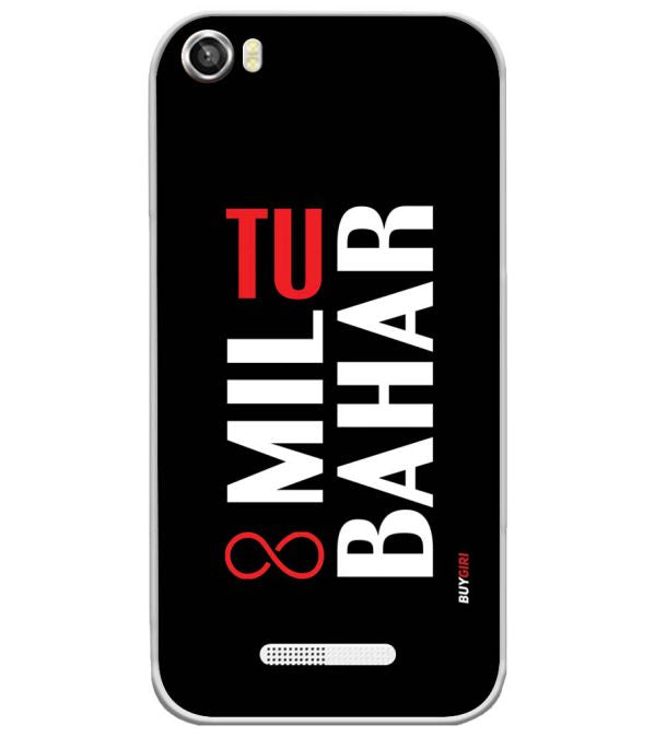 Tu Mil Bahar Soft Silicone Back Cover for Lava Iris X8