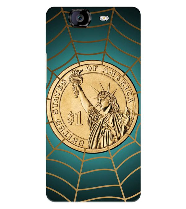 US Dollar Back Cover for Micromax A350 Canvas Knight