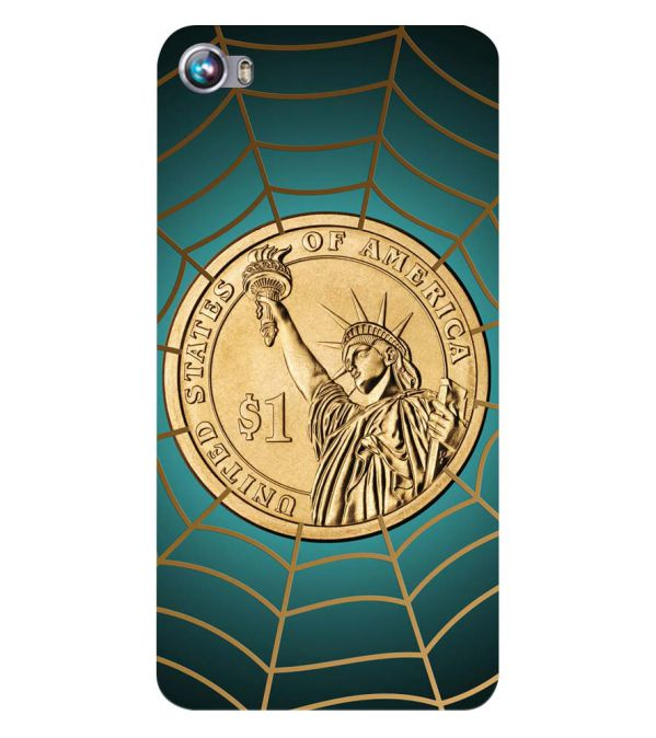 US Dollar Back Cover for Micromax Canvas Fire 4 A107