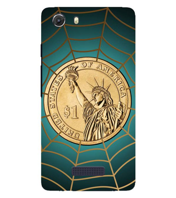 US Dollar Back Cover for Micromax Q372 Unite 3