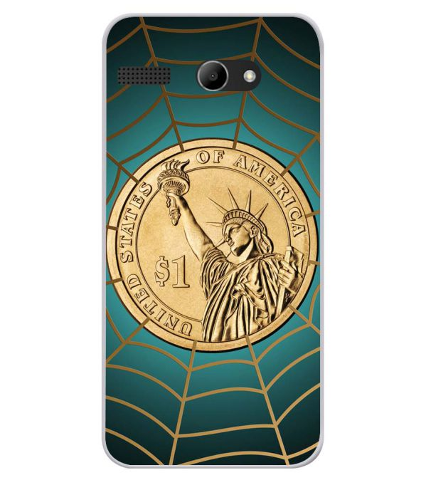 US Dollar Soft Silicone Back Cover for Lava Iris Atom X