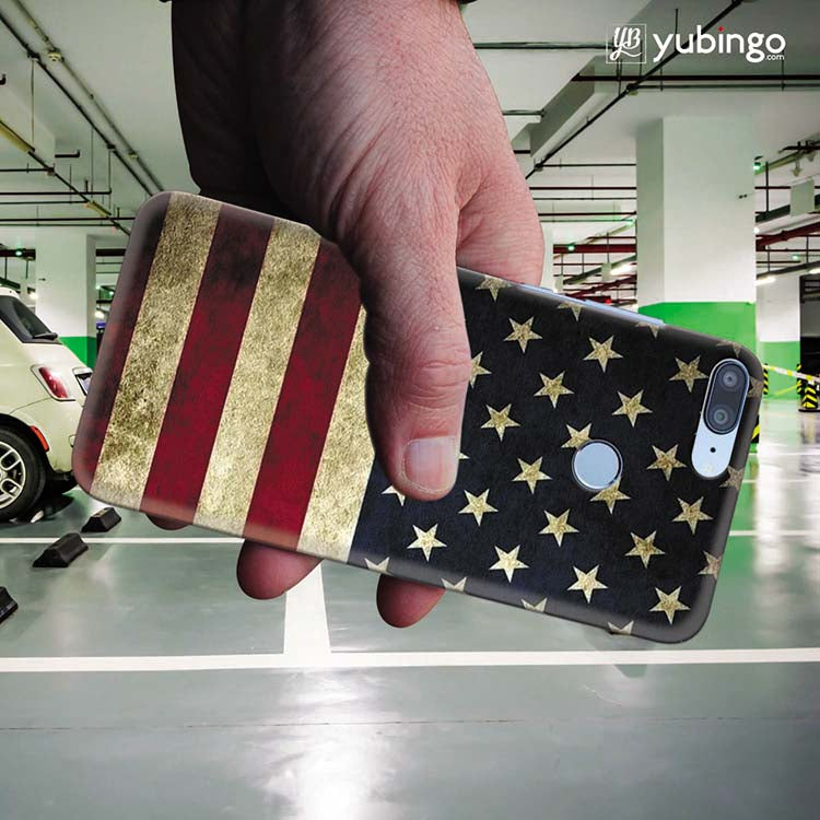 US Flag Theme Back Cover for Huawei Honor 9 Lite