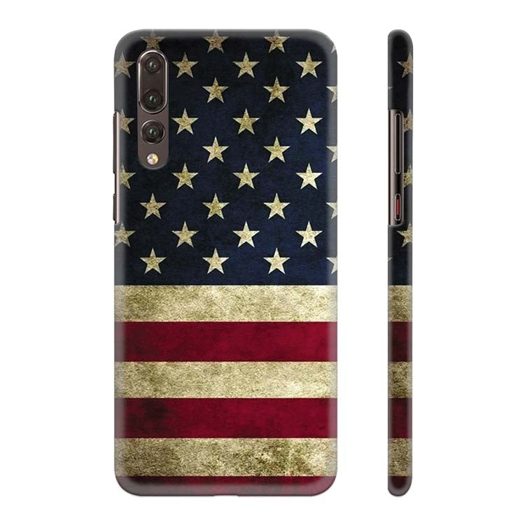 US Flag Theme Back Cover for Huawei P20 Pro