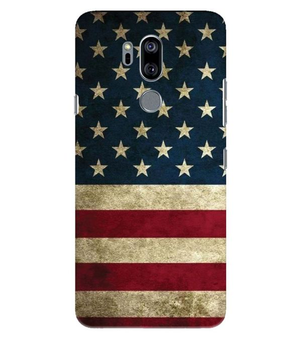 US Flag Theme Back Cover for LG G7