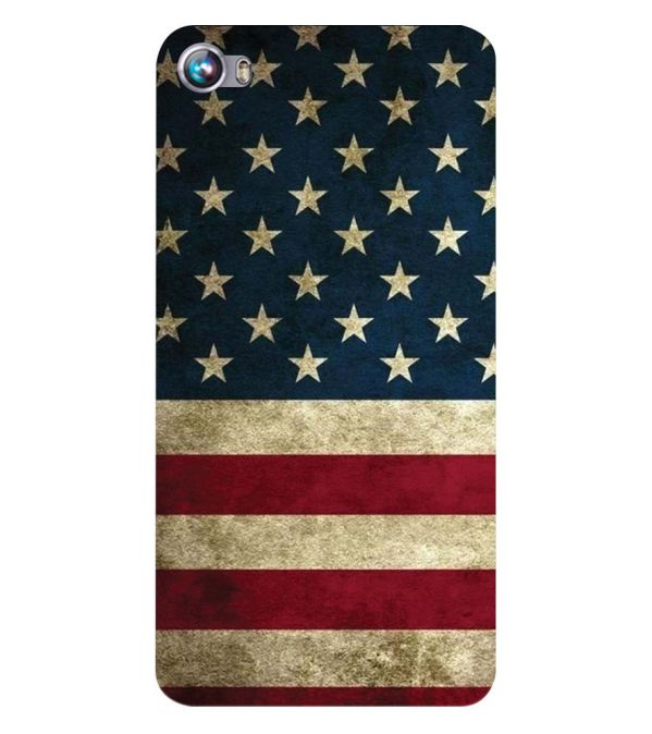 US Flag Theme Back Cover for Micromax Canvas Fire 4 A107