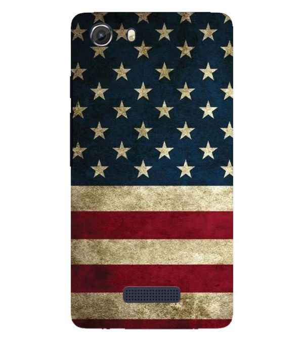 US Flag Theme Back Cover for Micromax Q372 Unite 3
