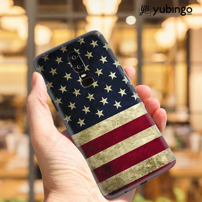 US Flag Theme Back Cover for OnePlus 6-Image2
