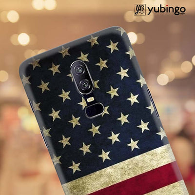 US Flag Theme Back Cover for OnePlus 6-Image4