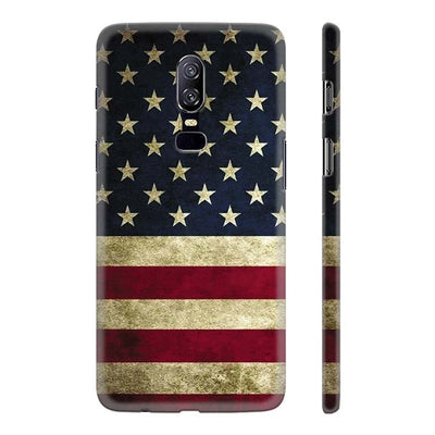 US Flag Theme Back Cover for OnePlus 6