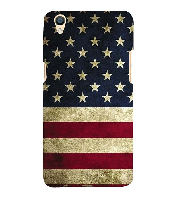 US Flag Theme Back Cover for Oppo F1 Plus