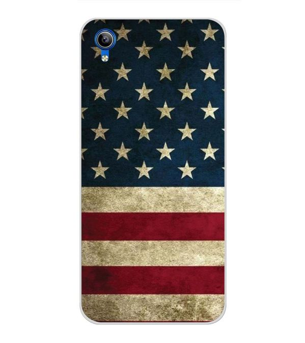 US Flag Theme Back Cover for Vivo Y91i-Image3