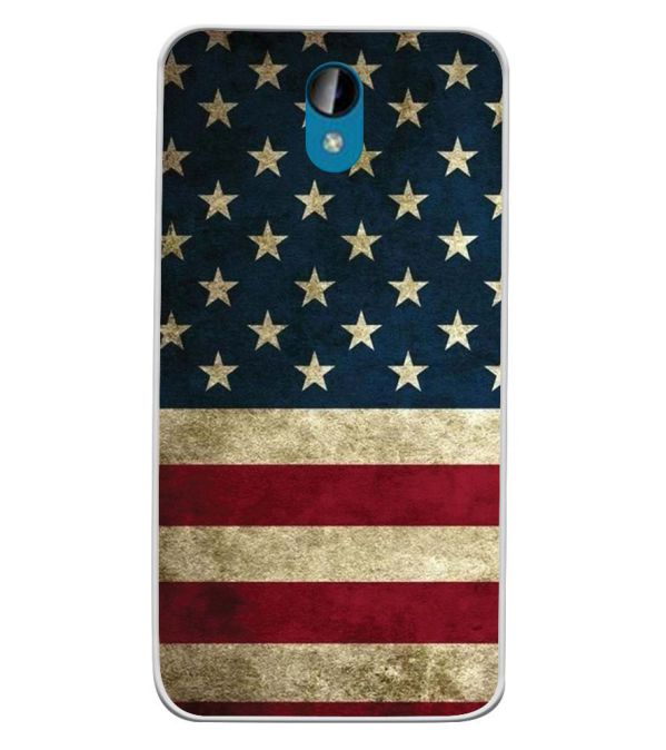 US Flag Theme Soft Silicone Back Cover for Intex Lions 6