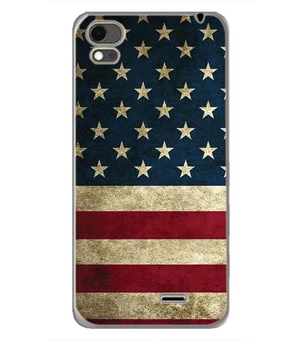 US Flag Theme Back Cover for Karbonn Aura Note 4G