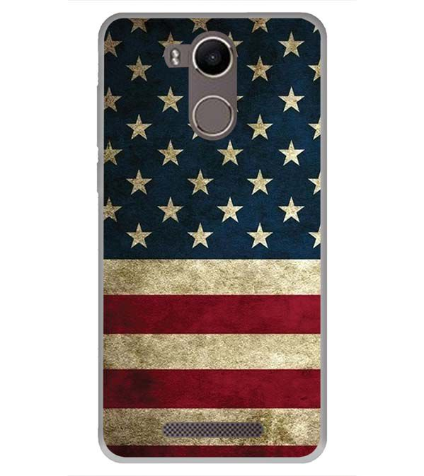 US Flag Theme Back Cover for Karbonn K9 Kavach 4G