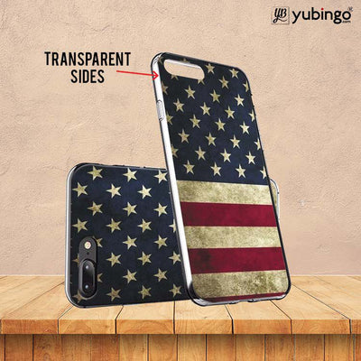 US Flag Theme Back Cover for ITEL PWO Pro-Image3
