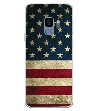US Flag Theme Back Cover for Samsung Galaxy S9