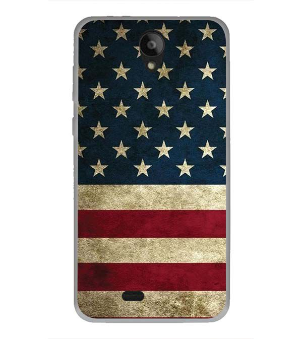 US Flag Theme Back Cover for Swipe Konnect Plus