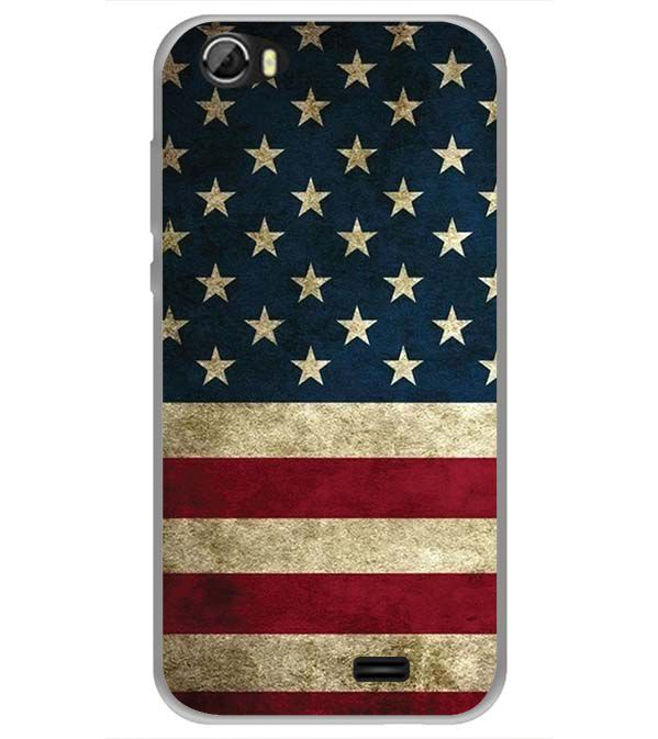 US Flag Theme Back Cover for Videocon Krypton 22 Plus