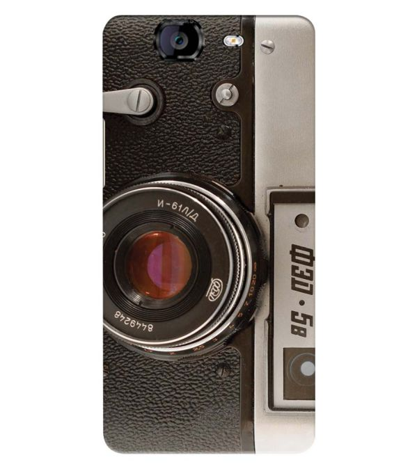 Vintage Camera Back Cover for Micromax A350 Canvas Knight