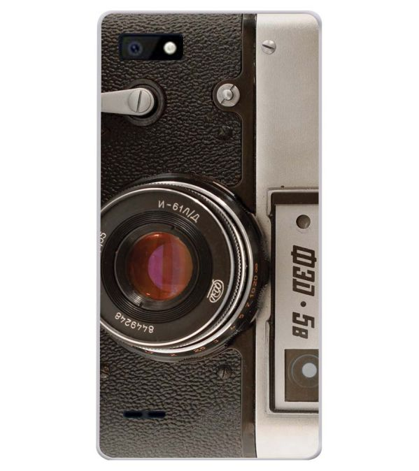 Vintage Camera Soft Silicone Back Cover for Karbonn A1 Indian