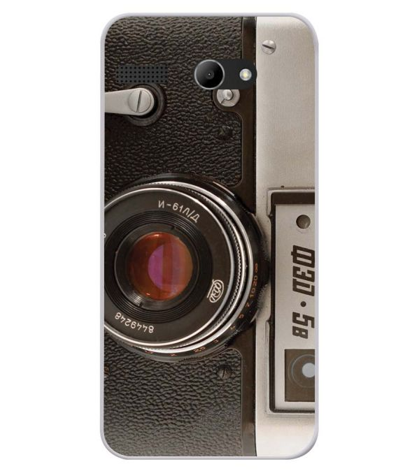 Vintage Camera Soft Silicone Back Cover for Lava Iris Atom X