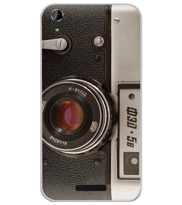 Vintage Camera Soft Silicone Back Cover for Lava Iris Atom X1