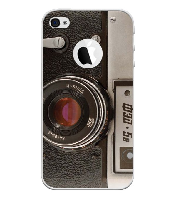Vintage Camera Back Cover for Apple iPhone 4 and iPhone 4S (Logo Cut)-Image3